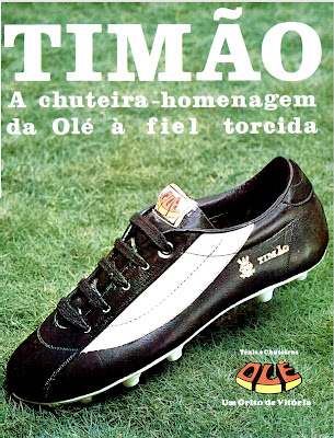propaganda chuteiras Timão da empresa Ole - 1977; os anos 70; propaganda na década de 70; Brazil in the 70s, história anos 70; Oswaldo Hernandez;