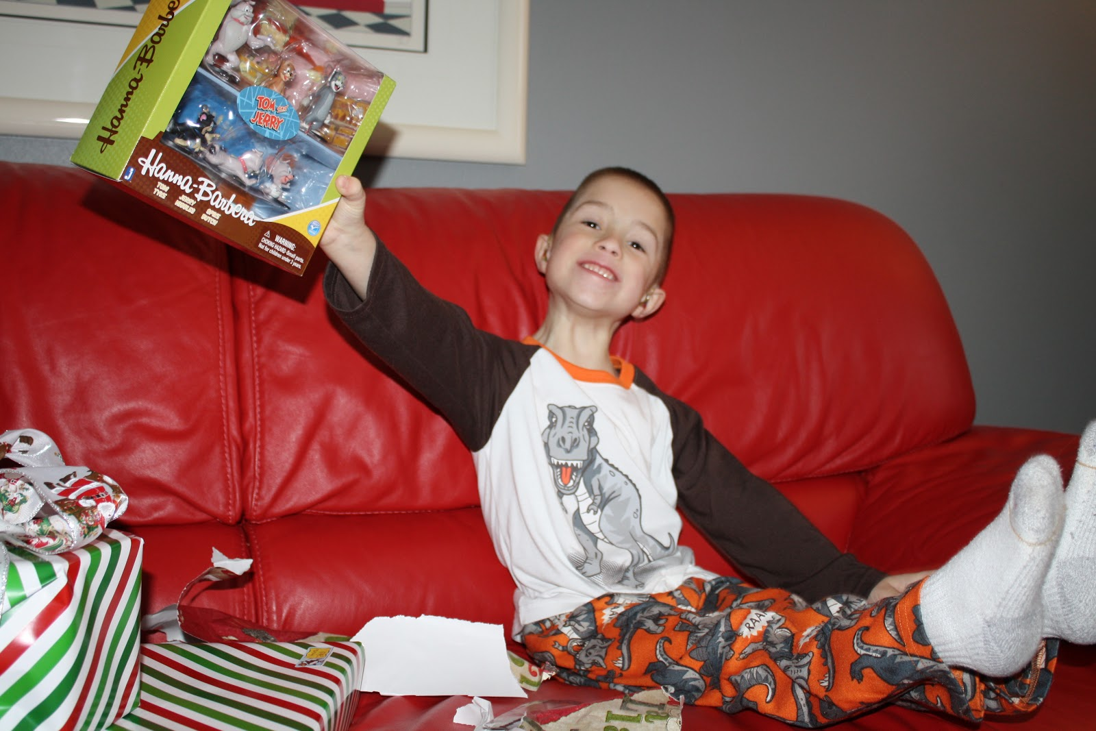 A Little Monkey Business Christmas Eve Cuddle Me Pajamas Red The Angry Birds Movie When Kids Woke Up Morning We Opened Gifts From Ga And Papa Made Him Happy With This Space Game Hed Been
