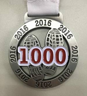 Virtual Runner UK 1,000 Challenge Medal