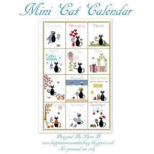 Mini Cat Calendar pdf cross stitch pattern