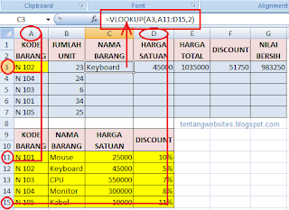 rumus fungsi look up excel