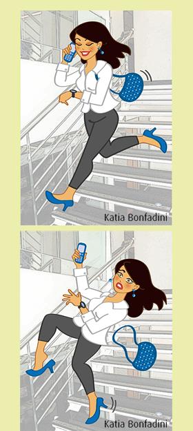 Ilustração para campanha interna de prevenção de acidentes. Cliente: GLOBOSAT