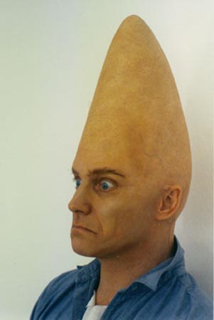 pointed head