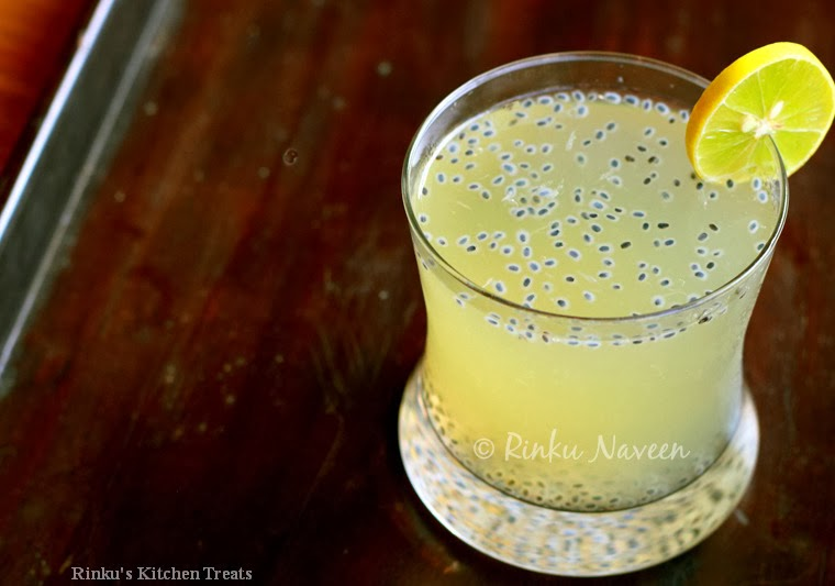 Rinku's Kitchen Treats: Basil Seeds Lime Cooler