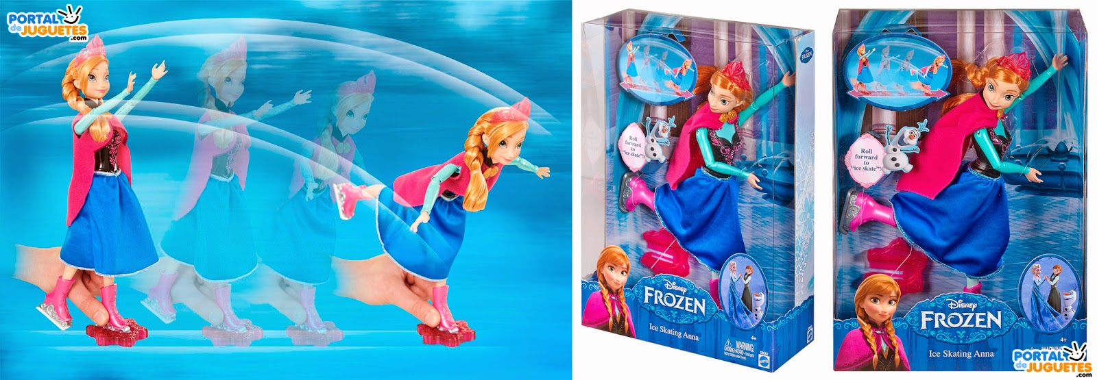 muñeca anna patinadora frozen mattel