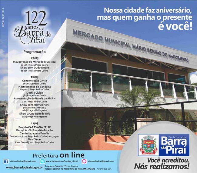 """Novo Mercado Municipal de Barra do Piraí-RJ""."