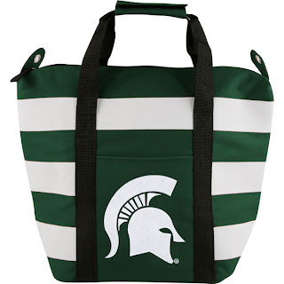 Michigan State Spartans NCAA Freeze Striped Cooler Tote Bag
