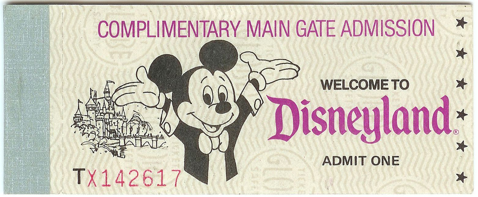Vintage Disneyland Tickets Ticket Exchange