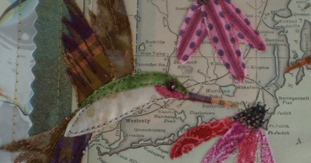 Vivika Denegre Art Quilts More Hummingbirds