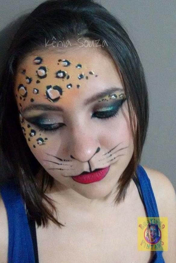 Populares Pinta Alegria Maquiagem Artística Profissional: Maquiagem Felina WK76