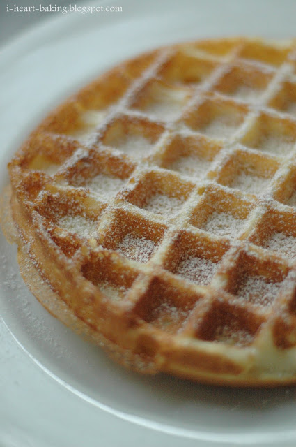 The first waffle to come out of the waffle maker - fail! I had ...
