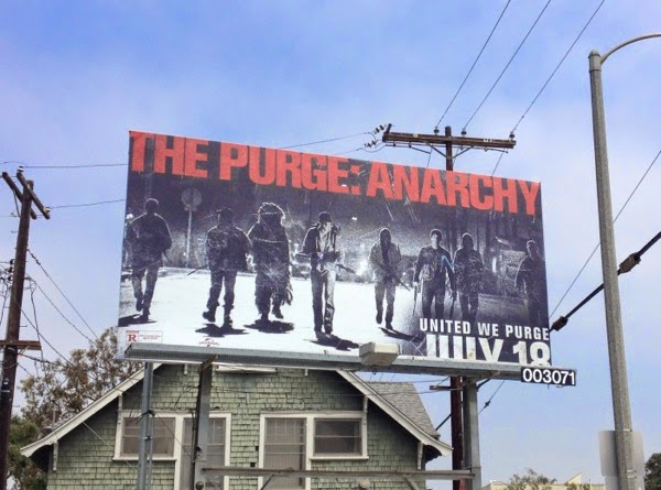 The Purge Anarchy movie billboard