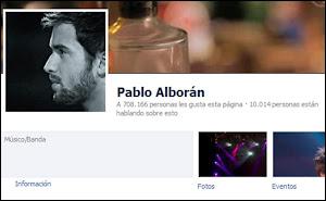 Facebook de Pablo Alborán