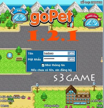 Tải goPet 121 - Game đấu thú được yêu thích nhất hiện nay