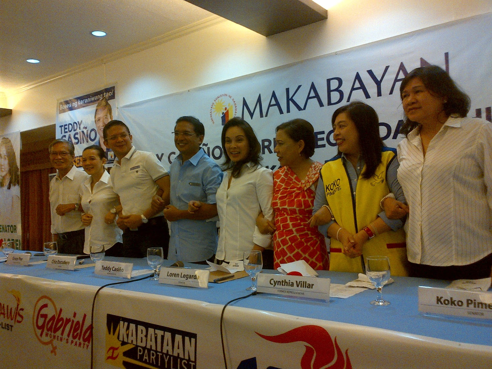 2013 Philippine National Elections Party List Candidates