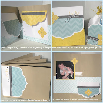 Stampin&#39; Up! Happy Hello Mini Album Class Tutorial