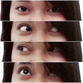 Aku lagi selfie dengan mata-mataku.