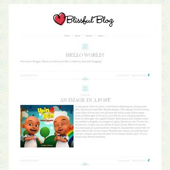 Blissful Blog Blogger Template convert from wordpress theme to blogger. minimalist design blogspot template