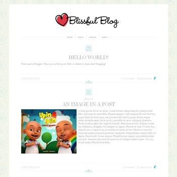 Blissful Blog Blogger Template convert from wordpress theme to blogger. minimalist design blogspot template