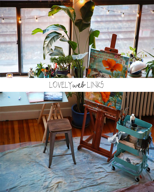 Collage Artist Studio Tour by Mae Chevrette on Lesley Myrick Art + Design
