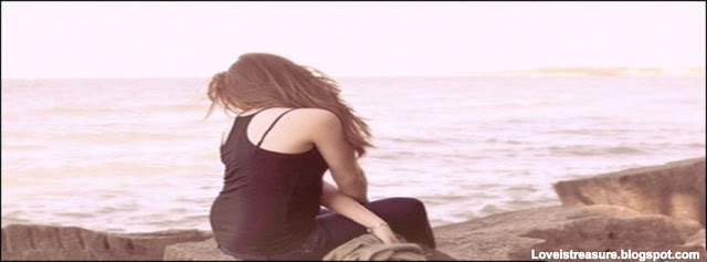 sad alone girl Facebook cover
