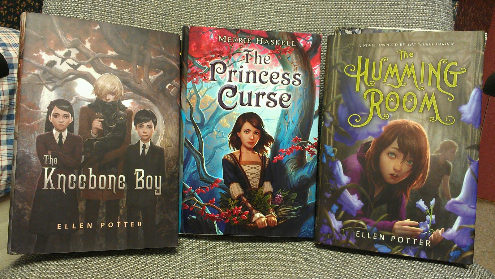 The Hunt By Andrew Fukuda Entwined By Heather Dixon Cold Kiss By Amy Garvey  (autographed) The Princess Curse By Marrie Haskell The Humming Room By  Ellen