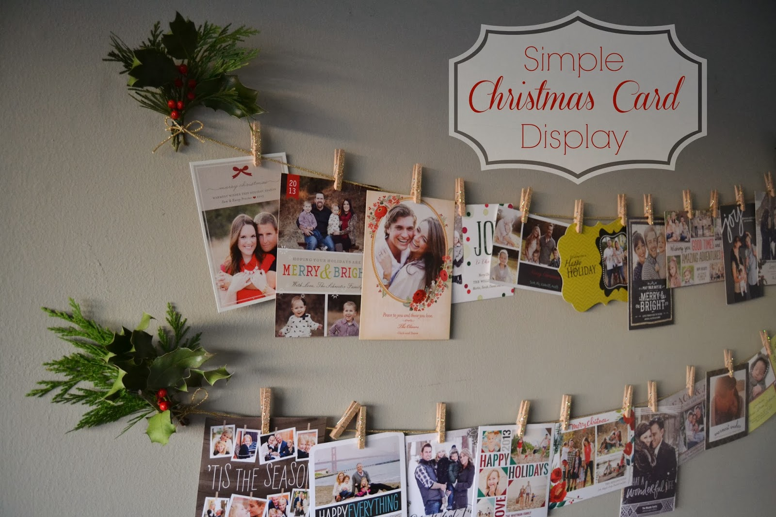 From Foothills to Fog: Simple Holiday Card Display