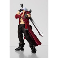 This is a Dante Action Figure from Devil May Cry, standing with Alastor and pointing