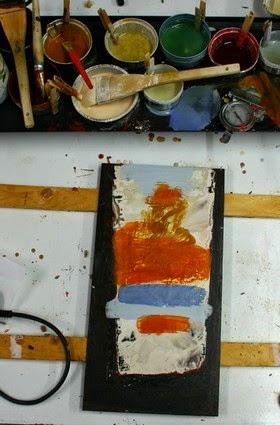 Encaustique couleurs et c un support peindre in dit - Peindre du metal rouille ...