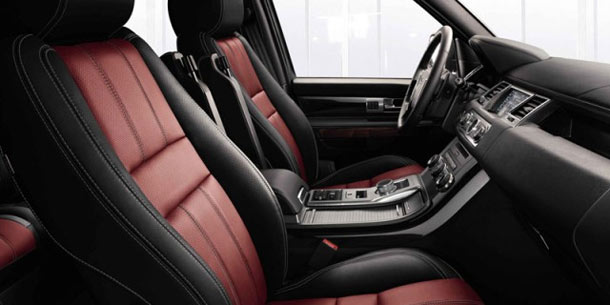 Range Rover Sport red interior