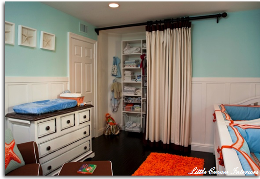 our cottage on the coast curtains for a closet. Black Bedroom Furniture Sets. Home Design Ideas