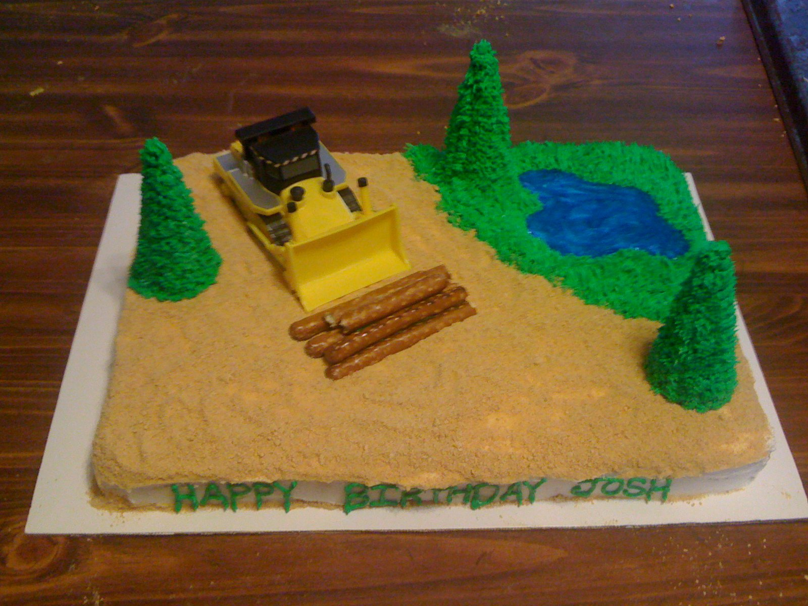 Shannons Crazy Kitchen Bulldozerwoods Themed Cake