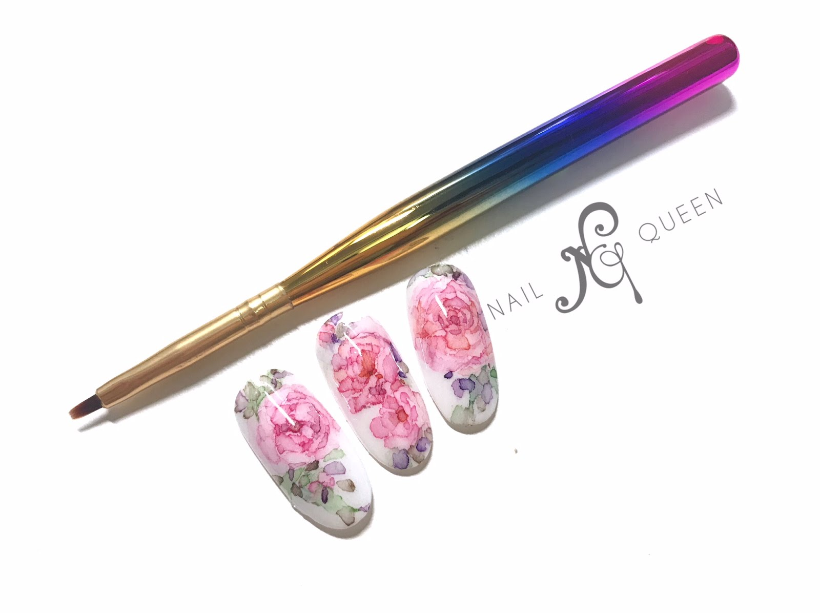 WATERCOLOR NAIL ART - FLORAL DESIGNS