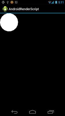 circle in Android RenderScript