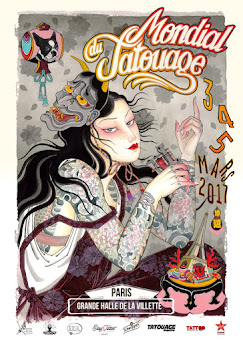 I'll be working at the Mondial du Tatouage