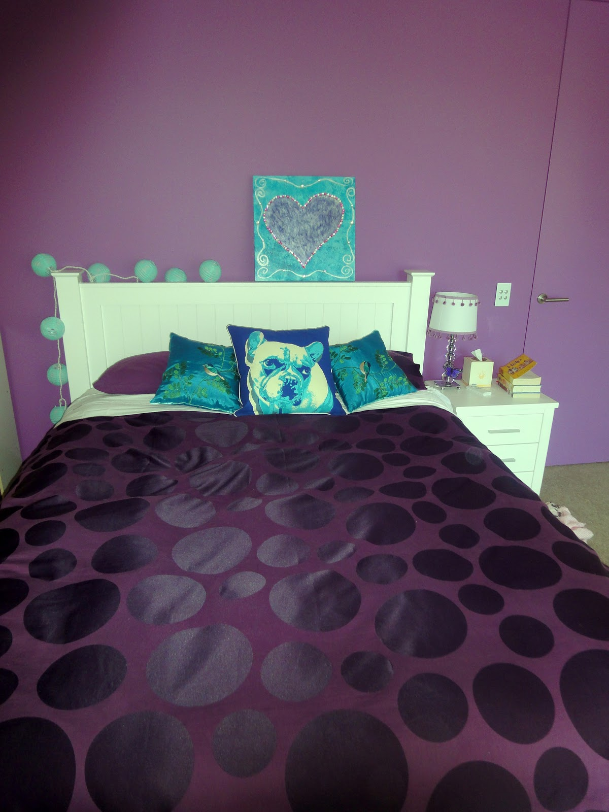 Daughter #1's purple bedroom