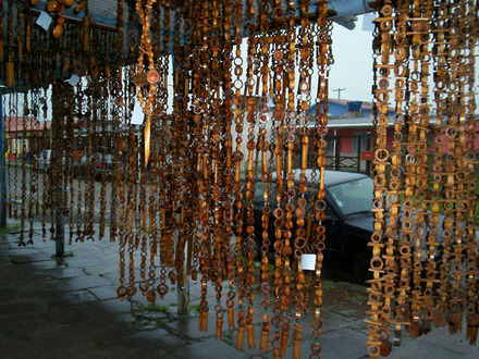 De mathaji para mathaji cortinas de material reciclado - Cortina de bambu ...