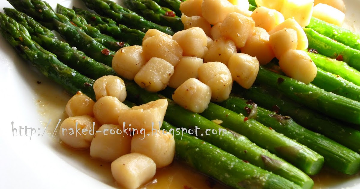 ... Cooking: Asparagus and Pan-seared Scallops with Lemon Fennel Sauce