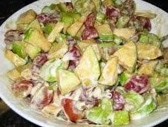Salad Buah Saus Keju