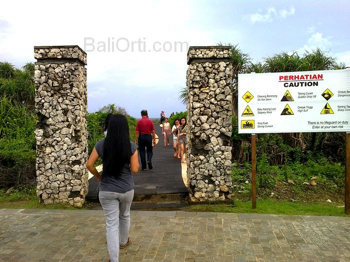 Gateway to the attractions of water blow in Nusa Dua Bali Indonesia