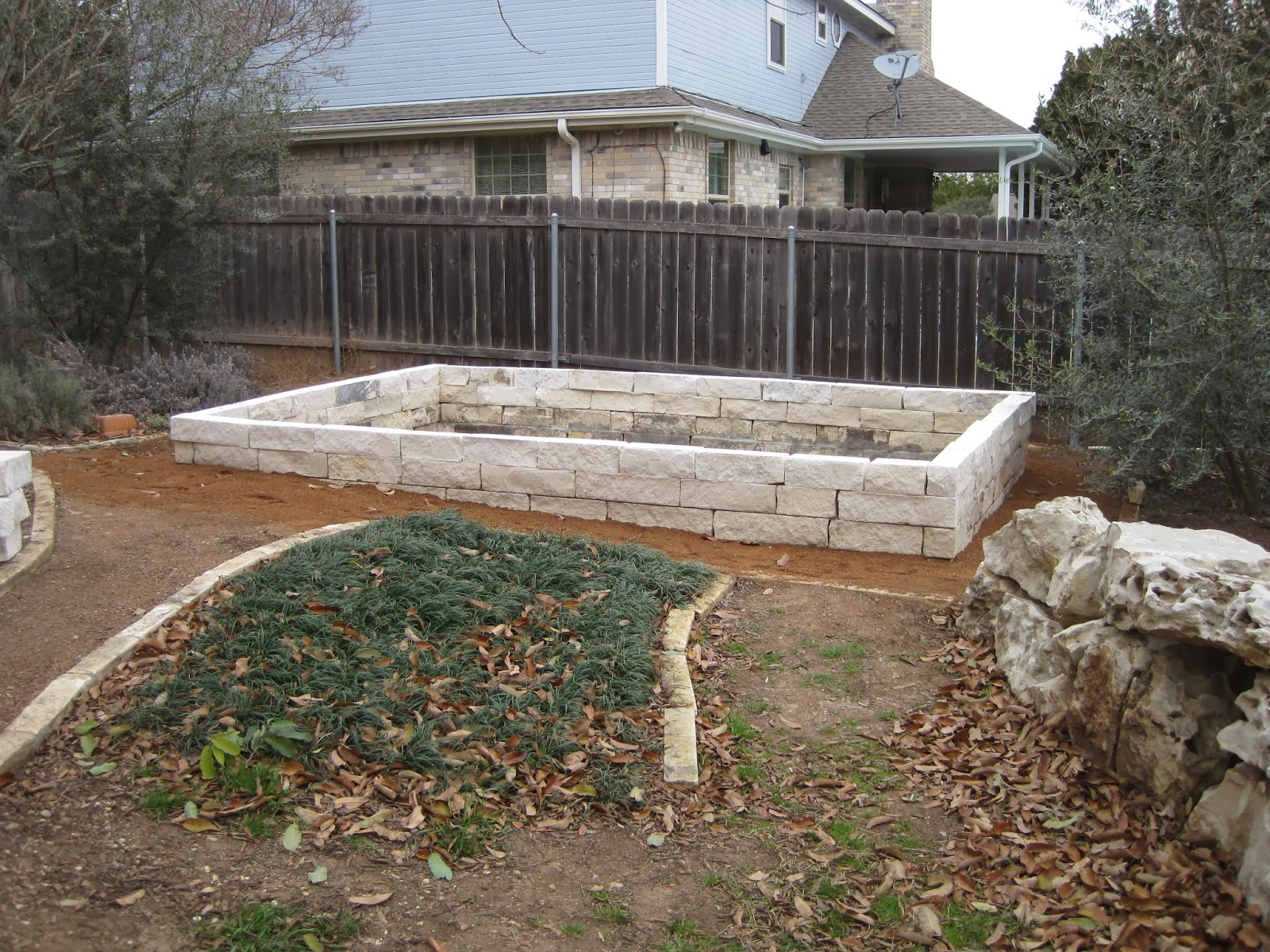 House Remodelling Limestone Blocks For The Raised Garden