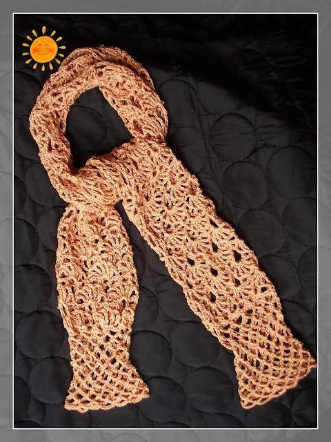 Golden Shrug. scarf?