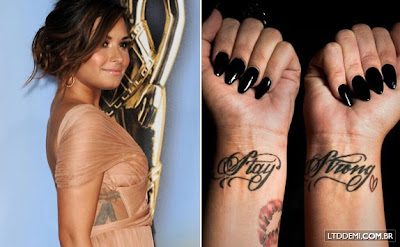 Fotos das Tatuagens da Demi Lovato