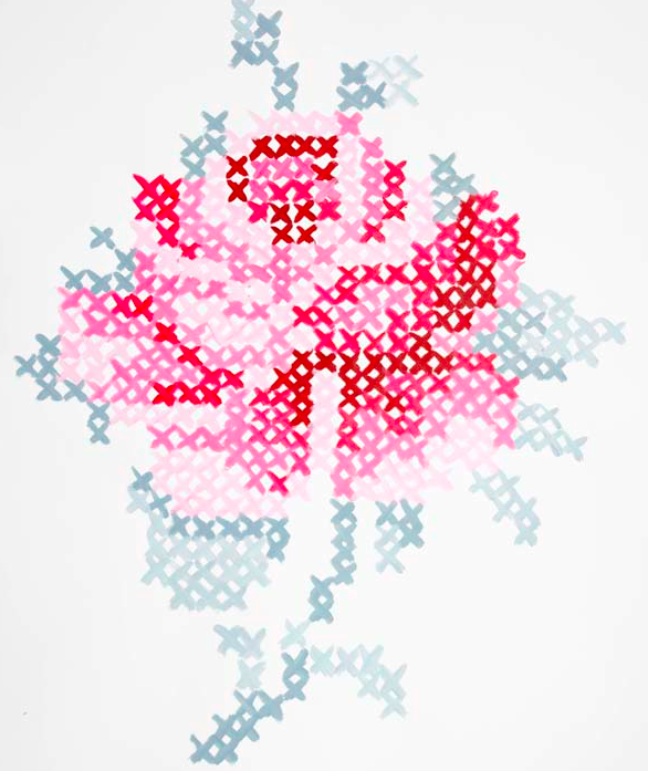 Google image result for for Cross stitch wall mural