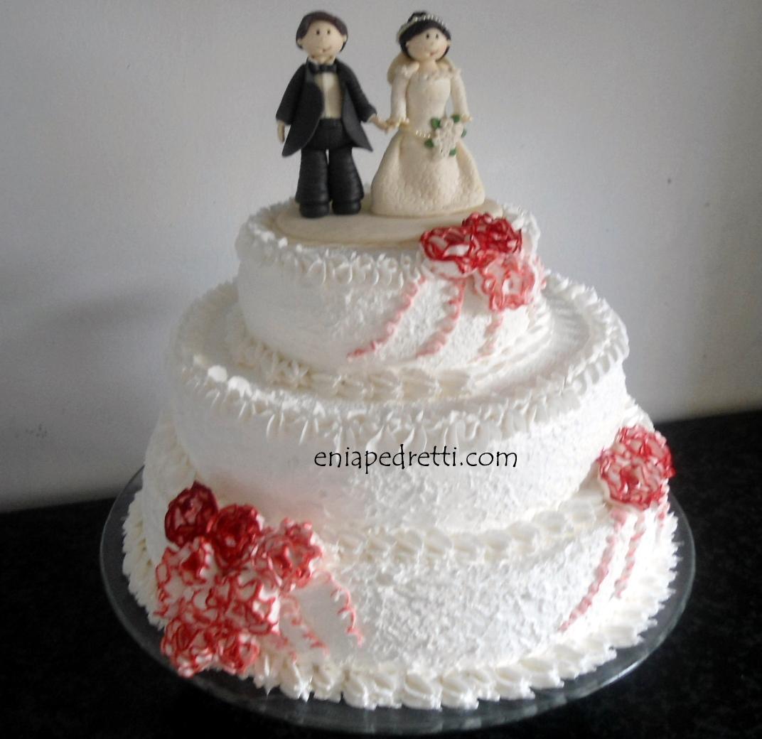 Muitas vezes Enia Pedretti Bolos & Cia: Bolo de Casamento 3 Andares com Rosas  AP02