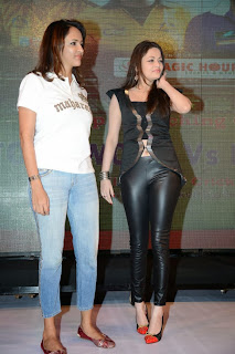 Sneha Ullal Pictures in Leather Dress at CCCup (Crescent Cricket Cup Trophy) 2013 Launch ~ Celebs Next