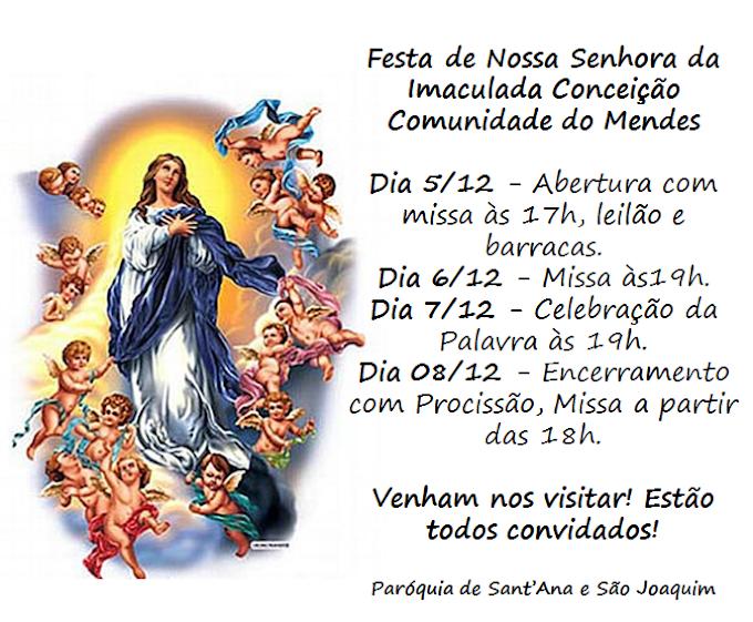 FESTA DA PADROEIRA NA COMUNIDADE DO MENDES