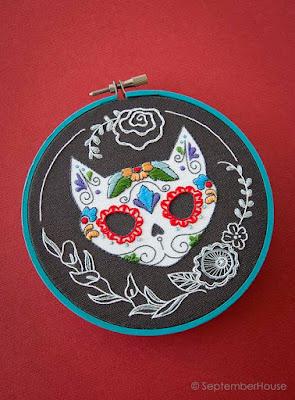 dia de los muertos calavera embroidery