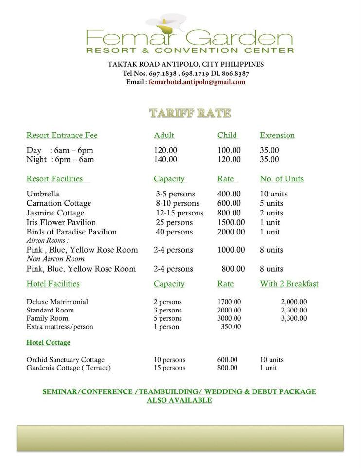 About femar garden hotel resort looking for affordable for Affordable pools near metro manila