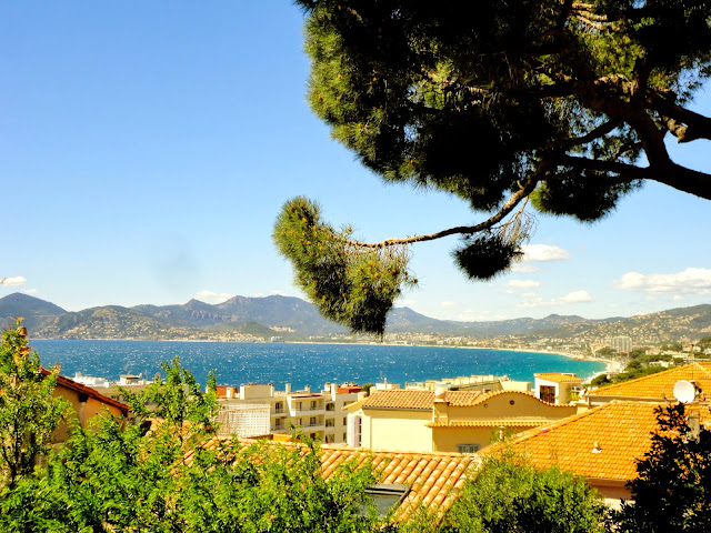 Ocean view from Le Suquet, Cannes, France